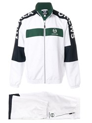Andrea Crews Colour Block Track Jacket White