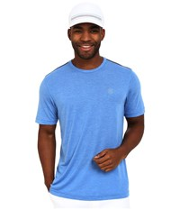 Travis Mathew Red Gotchal Shirt Heather Daphne Men's Workout Blue