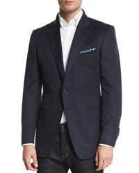 Tom Ford O'connor Base Brushed Cashmere Twill Blazer Navy