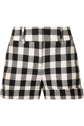 Veronica Beard Carito Gingham Cotton Blend Shorts Black