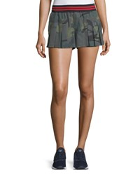The Upside Camo Agassi Short Green Pattern