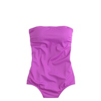 J.Crew Bandeau One Piece Swimsuit Deep Hyacinth