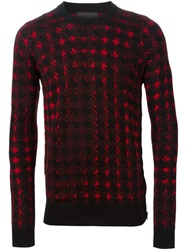 Diesel Black Gold Houndstooth Sweater