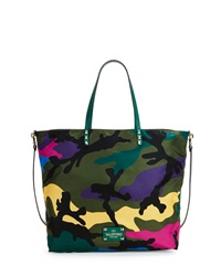 Valentino Nylon Camo Print Easy Tote Bag Multi