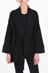 Lucas Hugh Women S Fleece Kimono Jacket Boutique1 Black