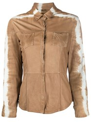 Giorgio Brato Tie Dye Leather Shirt Neutrals