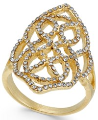 Inc International Concepts Gold Tone Pave Statement Ring Created For Macy's