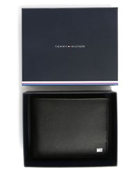 Tommy Hilfiger Black Eton Trifold Leather Wallet