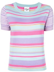 Michel Klein Striped Knit Jumper Multicolour