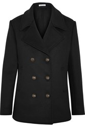 Tomas Maier Wool Blend Felt Peacoat Black