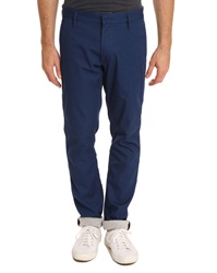 Marc By Marc Jacobs Camden Blue Chinos With Jersey Lining