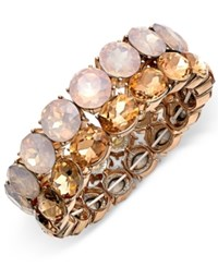 Charter Club Rose Gold Tone Crystal Stretch Bracelet Only At Macy's