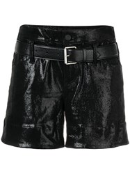 Rta Fitted Shorts Black