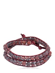 Colana Tiger Eye Beads Wrap Bracelet Brown