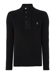 Duck And Cover Yarm 2 Knit Jumper Black