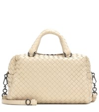 Bottega Veneta Intrecciato Leather Crossbody Bag Beige