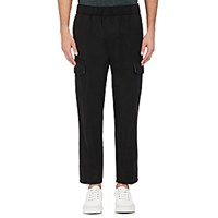 Vince. Men's Linen Blend Asymmetric Cargo Pants Black Blue Black Blue