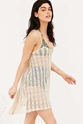 Out From Under Crochet Tunic Dress Ivory