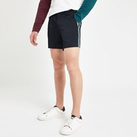 River Island Navy Tape Slim Fit Chino Shorts