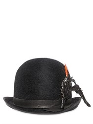 Move Fur Felt Bowler Hat With Feather Details