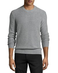 Vince Boiled Cashmere Crewneck Sweater Gray