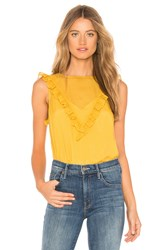 1.State Sheer Check Top Yellow