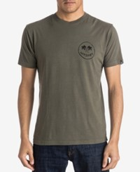 Quiksilver Men's Graphic Print T Shirt Olive