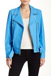 Elizabeth And James Corlyn Genuine Leather Jacket Blue
