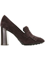 Tod's Fringed Pumps Brown