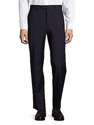 Saks Fifth Avenue Solid Wool Dress Pants Navy