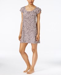 Alfani Flutter Sleeve Leopard Print Short Nightgown Only At Macy's Neutral Animal