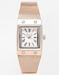 Kenneth Cole Watch With Bracelet Strap Rosegold