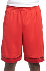 Men's Under Armour 'Baseline' Moisture Wicking Basketball Shorts Red