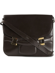 Delvaux Vintage Retro Box Shoulder Bag Brown
