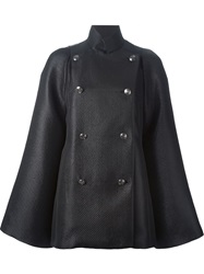 Pierre Balmain Double Breasted Cape Black