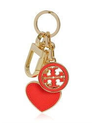 Tory Burch Heart And Logo Pendant Key Holder