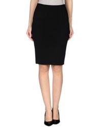 A'biddikkia Knee Length Skirts Black
