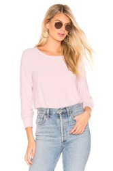 Chaser Cropped Reverse Panel Pullover Blush