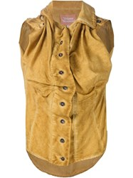 Vivienne Westwood Gold Label Revolt Blouse Yellow And Orange