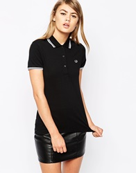 Fred Perry Twin Tip Polo Shirt Black