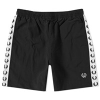 Fred Perry Taped Swim Short Black