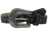 Ariat Floral Overlay Diamond Concho Belt Little Kids Big Kids Brown Women's Belts