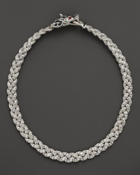 John Hardy Batu Naga Silver And Black Sapphire Dragon Head Necklace With Ruby Eyes And Small Braided Chain 18 Multi