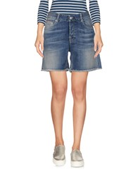 Care Label Denim Shorts Blue