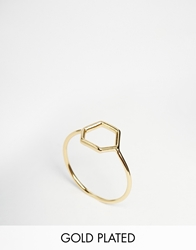 Pilgrim Gold Plated Hexagon Ring