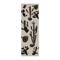 Hibernica Cactus Field Vinyl Floor Mat Black Beige Neutral