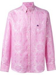 Etro Floral Jacquard Shirt Pink And Purple