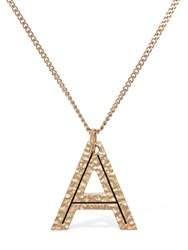 Burberry Letter A Charm Necklace Light Gold