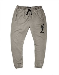 Religion Joggers In Oil Wash Grey