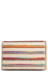 Chelsea 28 Chelsea28 Stripe Straw Convertible Clutch Red Natural Multicolor Stripe